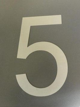 Hausnummer 50 cm XXL aus Edelstahl