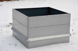 Hochbeet Metall mit Schneckenzaun 1m x 1m x 68 cm hoch