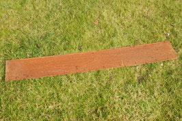 Cortenstahl Rasenkante Edelrost 118 cm x 17,5 cm x 1 mm