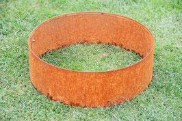 Rasenkanten Baumring Cortenstahl Edelrost Durchmesser 37 cm x 24 cm Höhe im 3-er Set