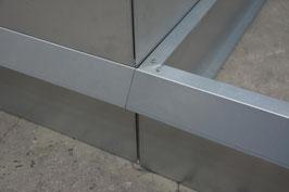 Hochbeet Metall mit Schneckenzaun 1m x 2m x 23 cm hoch