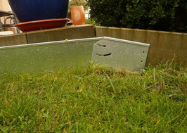 Cortenstahl Rasenkanten Gefälleprofil variabel 1 stück 20 cm x 12 cm x 1 mm