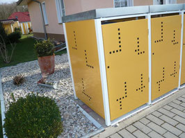 2er Mülltonnenbox 240L XL mit Pflanzdach