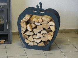 Kaminholzregal Innen Apfel, Birne oder Herz in versch. Ausführungen