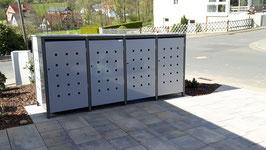4er Mülltonnenbox 120L mit Klappdach