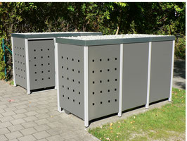Stanzung für Rückwand + Seitenteile der Mülltonnenbox
