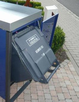 Kippbox-Set - Nachrüstung für Mülltonnenboxen mit Pflanzdach