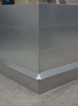Hochbeet Metall mit Schneckenzaun 1m x 2m x 90 cm hoch
