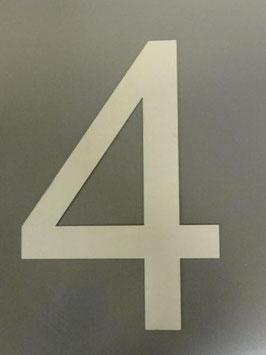 Hausnummer 40 cm XXL aus Edelstahl