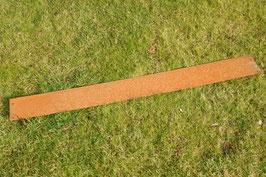 Cortenstahl Rasenkante Edelrost 118 cm x 12 cm x 1 mm