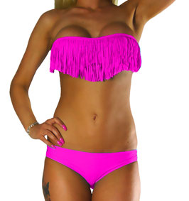 Sexy Fransen/Tassel Neckholder Bikini Set - 069