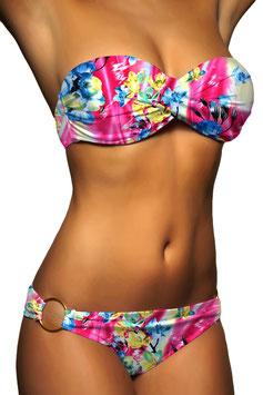 Twist Push Up Bandeau Bikini Set Bunt - 053