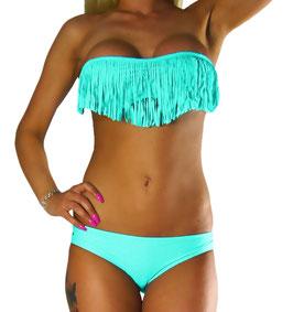 Sexy Fransen/Tassel Neckholder Bikini Set - 066