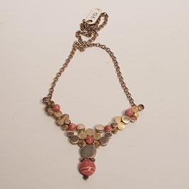 Halskette, Rhodochrosit, Silber ?
