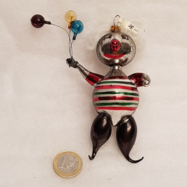Clown mit Glas-Ballonen