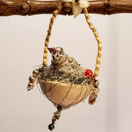 Vögelchen in Korb (Nr. 38)   RESERVIERT