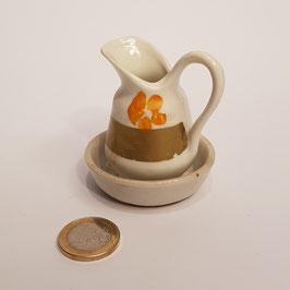 Waschkrug mit Schüssel, Porzellan