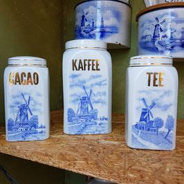 2 Vorratsdosen Cacao und Tee
