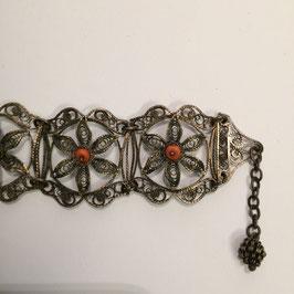 Armband, Silber (?), Koralle