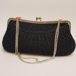 Tasche, schwarze Perlen, sehr schön