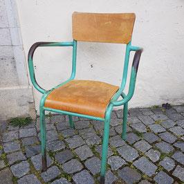 Stuhl, Holz und Metall