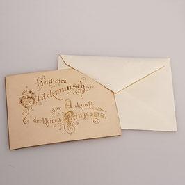 """Glückwunschkarte """"Zur Ankunft der kleinen Prinzessin"""""""