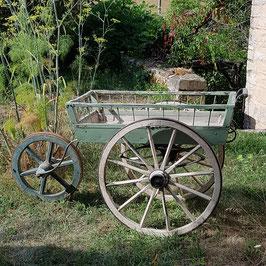 Grosser Blumenwagen mit Zinkblech-Einlage, sehr selten, um 1900