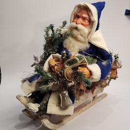 Grosser Nikolaus, auf Schlitten, selten