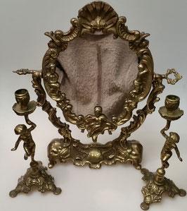 Standspiegel mit 2 Engel-Kerzenständer