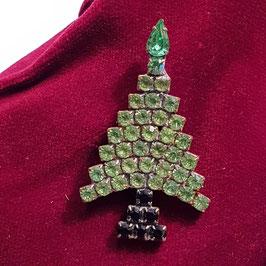 Gablonz, Brosche, Weihnachtsbaum (Nr. 7)