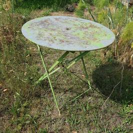 Gartentisch, Metall, mit Loch für Sonnenschirm