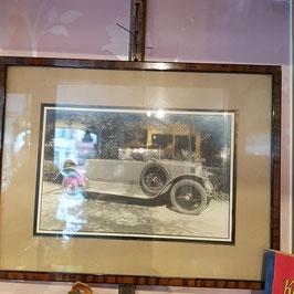 Alte Photographie mit Rahmen, Oldtimer