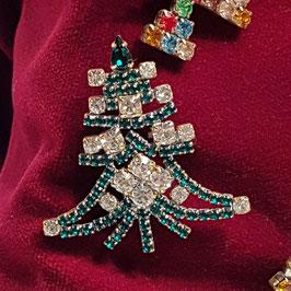 Gablonz, Brosche, Weihnachtsbaum (Nr. 11)