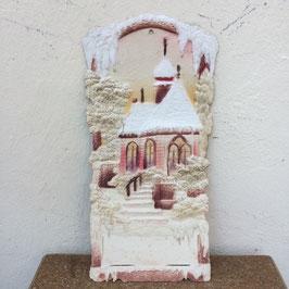Weihnachts-Landschaft, Pappe, geprägt