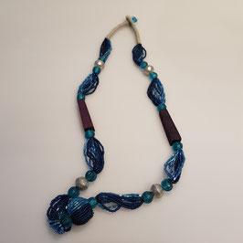Halskette, blau (Nr. 99)
