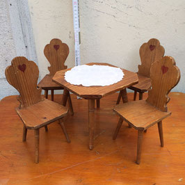 Puppenmöbel, Garnitur, Holz