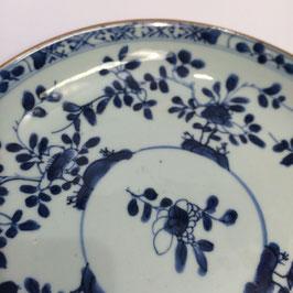 Porzellanteller, chinesisch, blau-weiss, 19. Jh.