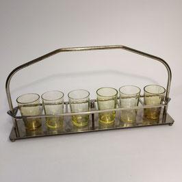 6 Schnaps-Gläser, verschiedene Farben