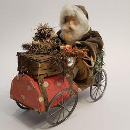 Nikolaus im Wagen, Körbchen zum Öffnen, selten