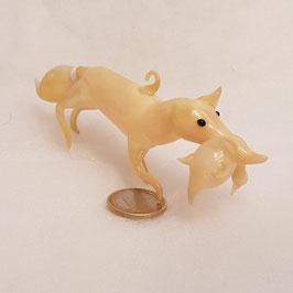 Fuchs mit Gans, Glas