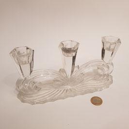 Kerzenständer aus Glas, für 3 Kerzen