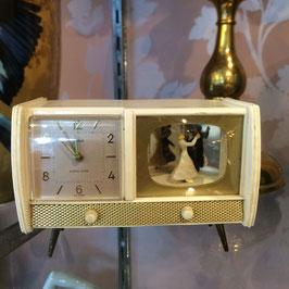 Radio-Wecker, mit tanzendem Paar, 50er Jahre