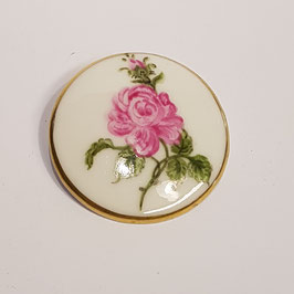 Brosche, Rose, handbemalt