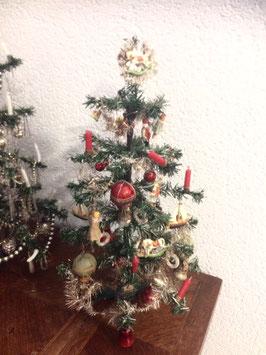 Kleiner Papierbaum, schön und reich behängt