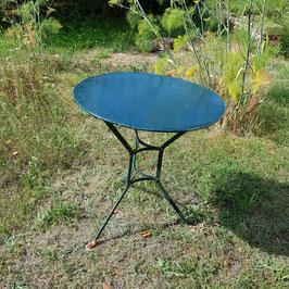 Gartentisch, Metall, dunkelgrün bemalt