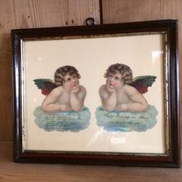 Oblaten Bild mit Engeln
