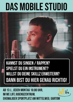 """2021-09 WE music: """"Workshop: Das mobile Tonstudio, Musikproduktion, Texten, Rappen mit Almond Brand"""