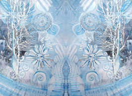 POSTER - Spiegelbild Farbenergie Weiß