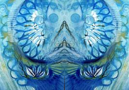 POSTER - Spiegelbild Farbenergie Blau