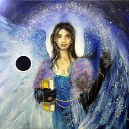 Leinwandbild - Erzengel Raguel (a) - Engel der Schatten